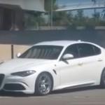 Новая модель Giulia QV от Alfa Romeo была заснята на дорогах Барселоны